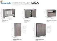 Chambre évolutive 3 pièces avec armoire 2 portes Luca-Détail de l'article