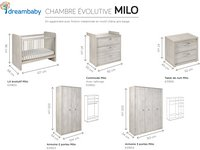 Chambre évolutive 3 pièces avec armoire 2 portes Milo-Détail de l'article