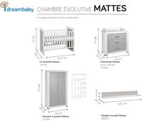 Transland Chambre évolutive 3 pièces avec armoire 2 portes Mattes-Détail de l'article