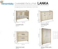 Chambre évolutive 3 pièces avec armoire 2 portes Lanka-Détail de l'article