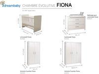 PAIDI Chambre évolutive 3 pièces avec armoire 2 portes Fiona-Détail de l'article