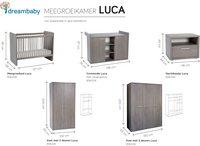 3-delige meegroeikamer met kast met 2 deuren Luca-Artikeldetail