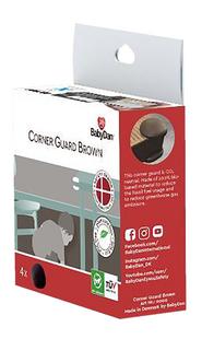 BabyDan Protection pour coins de table brun - 4 pièces-Côté droit