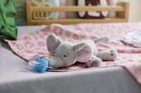 Philips AVENT Fopspeen met knuffel + 0 maanden Snuggle Olifant-Afbeelding 1