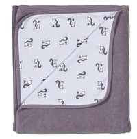 Dreambee Couverture pour lit Ayko taupe coton/polyester-Avant