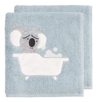 Dreambee Serviette Kai Lg 50 x L 100 cm bleu - 2 pièces-commercieel beeld