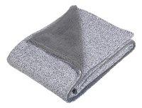 Jollein Couverture pour berceau ou parc stonewashed grey polaire