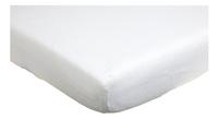 Trois Kilos Sept Drap-housse pour lit blanc tetra Lg 60 x L 120 cm
