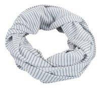 Jen & James Châle/écharpe d'allaitement ligne gris/blanc-Avant