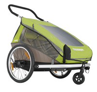 Croozer Fietskar Kid for 2 Click & Crooze meadow green/sand grey-Bovenaanzicht