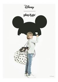 Play&Go Sac de rangement/Couverture de jeu Mickey black-Image 2