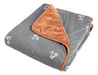 Dreambee Couverture pour lit Kai gris-Avant