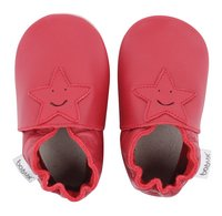 Bobux Chaussons Soft soles Smiling Star red