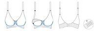 Carriwell Soutien-gorge d'allaitement GelWire blanc XL-Détail de l'article