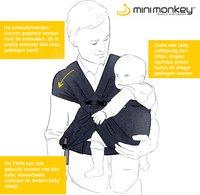 Minimonkey Porte-bébé ventral Twin mesh black-Détail de l'article