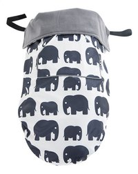 Bundle Bean Multifunctioneel voetenzeil grey elephants-Vooraanzicht