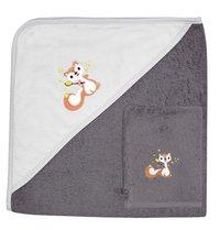 Dreambee Cape de bain et gant de toilette Ayko taupe/gris clair