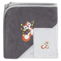 Dreambee Cape de bain et gant de toilette Ayko gris clair/taupe