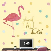 RoomMates Sticker mural Flamingo Stand Tall Darlin'