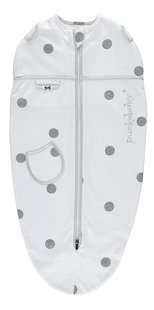 Puckababy Cape d'emmaillotage Original Mini coton Dotty white 3 - 6 mois