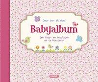 Babyalbum Daar ben ik dan! roze NL