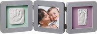 Baby Art 3-delig fotokader met gipsafdruk groen/roze