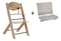 Treppy Chaise haute avec coussin réducteur gratuit naturel-Avant