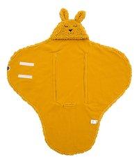Jollein Wikkelcape Bunny mustard-Vooraanzicht