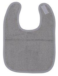 Dreambee Slabbetje Essentials met velcrosluiting grijs