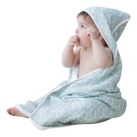 Posh Baby Cape de bain geo menthe-Image 3