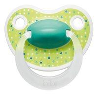 Bibi Fopspeen + 6 maanden Happiness Lovely Dots blauw/roze/groen-commercieel beeld