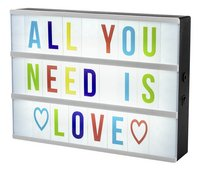 Insteekkaartjes gekleurde letters voor lightbox