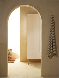 Quax Armoire 2 portes et 2 tiroirs Flow White & Oak-Image 1