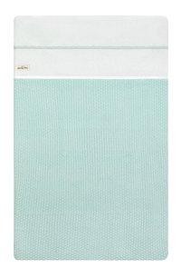 Jollein Laken voor wieg of park Crochet katoen small mint