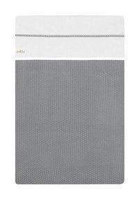 Jollein Drap pour berceau ou parc Crochet coton small grey