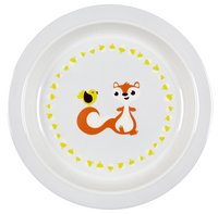 Dreambee Assiette plate Ayko blanc/gris