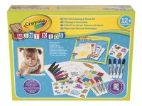 Crayola Kleur- en stickerset Mini Kids