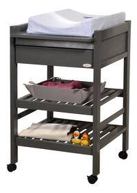 Troll Table à langer avec tiroir Loft seal grey-Image 1