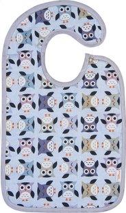 Trixie Slabbetje Owls met drukknoppen