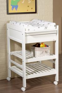 Troll Table à langer avec tiroir Loft blanc-Image 2