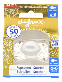 Difrax Sucette 0 - 6 mois Natural gold