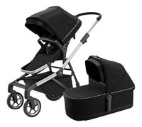 Thule Wandelwagen Sleek midnight black-Vooraanzicht