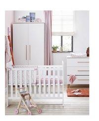 PAIDI 3-delige babykamer met kast met 2 deuren Steffi wit-Afbeelding 1