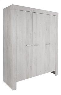 PAIDI Armoire 3 portes Mees décor blanc