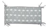 Fresk Tour de lit Whale Grey coton bio