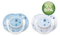 Philips AVENT Sucette 6 - 18 mois nuit bleu - 2 pièces