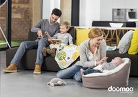 doomoo Pouf Seat Home taupe-Image 1