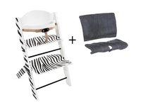 Treppy Eetstoel + verkleinkussen zebra