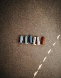 Mushie Vingertandenborstel Sand/Clay - 2 stuks-Afbeelding 1