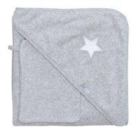 Bemini Cape de bain et gant de toilette Stary chiné grey-Avant
